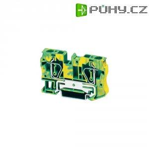 Průchodová svorka s tažnou pružinou Phoenix Contact ST 6 PE (3031500), zelenožlutá