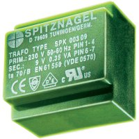 Transformátor do DPS Spitznagel El 42/15, 230 V/2x 12 V, 2x 229 mA, 5,5 VA