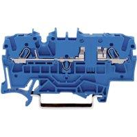 Průchozí svorka Wago 2002-1604, pružinová, 5,2 mm, modrá