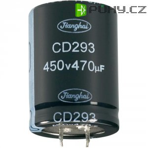 Elektrolytický Snap In kondenzátor Jianghai ECS2GBZ221MT6P23035, 220 µF, 400 V, 20 %, 35 x 30 mm