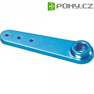 Hliníková páka serva jednostranná Reely, 47 mm, 3 otvory, modrá