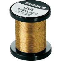 Měděný drát smaltovaný lakem Block CUL 500/1,50, vnější Ø 1.50 mm, 1 balení