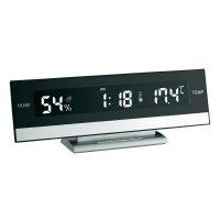 Digitální stolní hodiny s teploměrem/ vlhkoměrem TFA, 60.2011, 240 x 90 x 50 mm