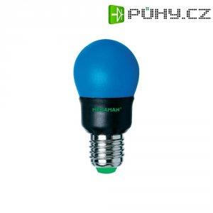 Úsporná žárovka kulatá Megaman Party Color E27, 7 W, modrá