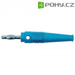Lamelový konektor Ø 4 mm MultiContact 64.9199-23, zástrčka rovná, modrá