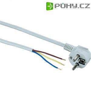 Síťový kabel, zástrčka/otevřený konec, 1,5 mm², 5 m, bílá