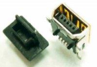 USB záslepka Würth Elektronik 726141005, mini USB AB, černá