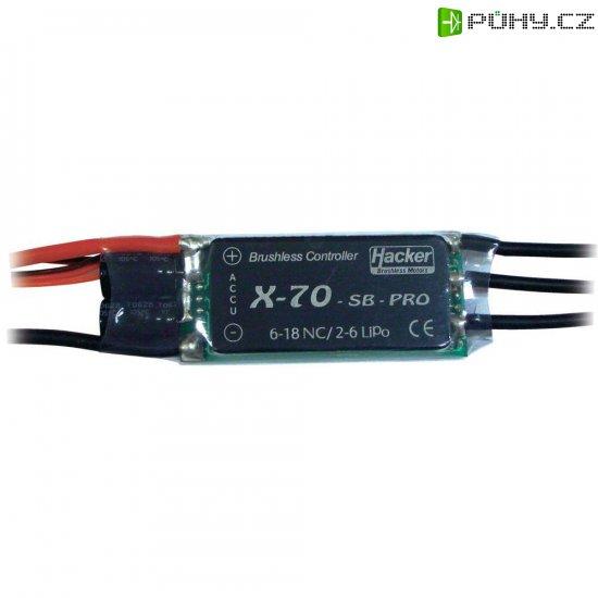 Regulátor otáček Brushless Hacker X-Pro SB, 8 - 18 NiCd/ 2 - 6 LiPo, 70 A, JR - Kliknutím na obrázek zavřete
