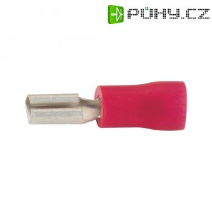 Faston zásuvka Vogt Verbindungstechnik 390008S 2.8 mm x 0.8 mm, 180 °, částečná izolace, červená, 1 ks