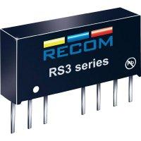 DC/DC měnič Recom RS3-1212D (10004060), vstup 9 - 18 V/DC, výstup ±15 V/DC, ±125 mA, 3 W