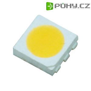 SMD LED Top-View-LED triple chip PLCC6 Typ 5050, 6000 mcd, studená bílá