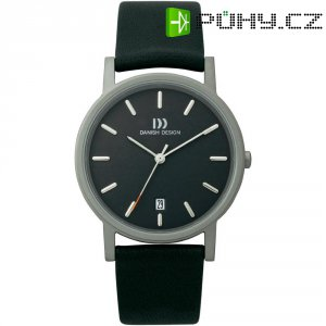 Ručičkové náramkové hodinky Danish Design, 3316261, kožený pásek