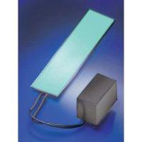 Elektroluminiscenční světelná fólie 138x34 mm - červená