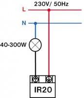 Pohybové čidlo místo vypínače IR20 - PIR čidlo