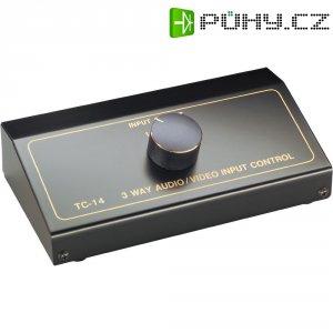Přepínací pult AVC-4, 3 vstupy, 160 x 44 mm