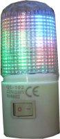 Noční světlo LED 230V/1W do zásuvky multicolor