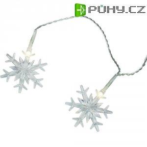 Světelný řetěz s motivem sněhové vločky 12 LED 12-C004 napájení ze sítě teplá bílá 2.2 m