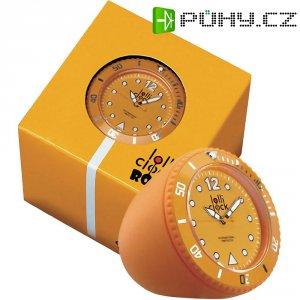 Analogové stolní hodiny Lolliclock, 44 x 44 x 47 cm, oranžová