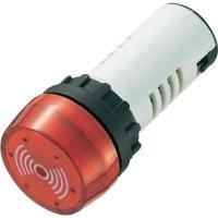 Sirénka / kontrolka, 80 dB 12 V/DC, 22 mm, červená