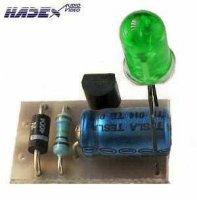 Indikátor 230V AC LED zelená STAVEBNICE