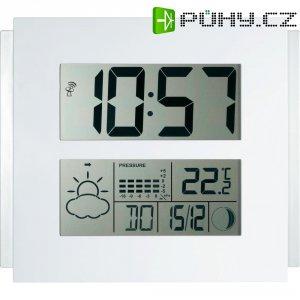 Digitální nástěnné DCF hodiny Jumbo, W262-1, 295 x 285 x 28 mm, bílá
