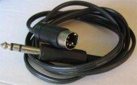 Kabel DIN5 - Jack 6,3 stereo, 1,5m