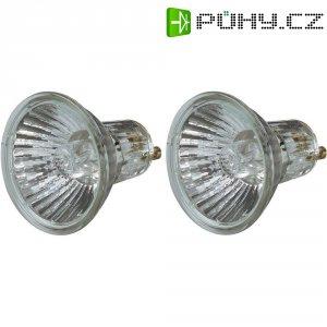 Halogenová žárovka Osram, 230 V, 20 W, GU10, Ø 51 mm, stmívatelná, teplá bílá, 2 ks