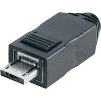 Micro USB konektor BKL Electronic, zástrčka rovná