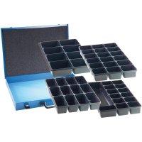 Plechová krabička na součástky bez přihrádek, 480 x 365 x 54 mm, modrá