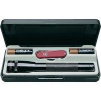 Dárková sada s LED svítilnou Mag-Lite Mini-Pro a Victorinox Swiss kapesní nůž, černá