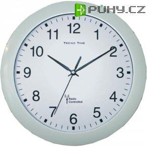Analogové DCF nástěnné hodiny, 56786, Ø 30 x 4,5 cm, bílá