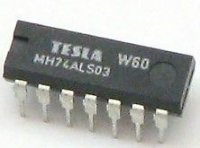 74ALS03 4x 2vstup NAND /MH74ALS03,MH54ALS03/, DIL14