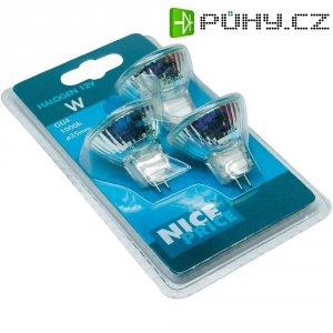 Halogenová žárovka, 12 V, 20 W, GU4, Ø 35 mm,teplá bílá, 3 ks