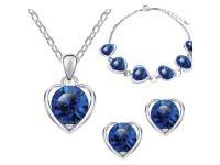 Šperk Set Love Heart modrá