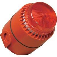 Siréna s blikajícím světlem ComPro Flashni (FL/RL/R/D/24/SEP/SW), 58-85 mA, IP65, červená