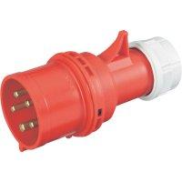 CEE zástrčka na kabel PCE, 32 A, IP44, červená