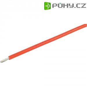 Licna BKL Electronic 1501076, 1x 0,14 mm², Ø 1 mm, 1 m, červená
