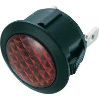 Neonová signálka SCI, červená, kulatá