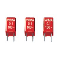 Fóliový kondenzátor MKS Wima MKS 2, 0,1 uF, 100 V, 5 mm, 0,1 µF, 100 V, 20 %, 7,2 x 2,5 x 6,5 mm