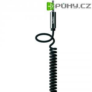 Spirálový přip.kabel Belkin jack zástr. 3.5 mm/jack zástr. 3.5 mm, černý, 1,8 m