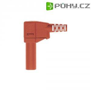 Lamelový konektor Ø 4 mm MultiContact 22.2667-22, zástrčka úhlová, červená