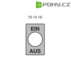 Štítek ZAP/VYP Marquardt, německy (š x v) 16 mm x 28 mm