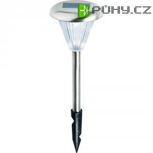 Solární zahradní LED svítidlo, nerez, zapichovací