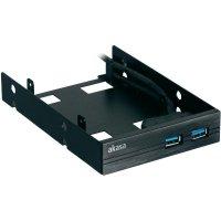 Vestavný zásuvný panel USB 3.0 Akasa, 2-portový + HDD