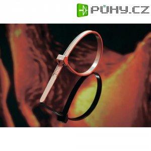 Stahovací pásky HellermannTyton PT2A-PEEK-GY-C1, vnější zoubky, hnědá