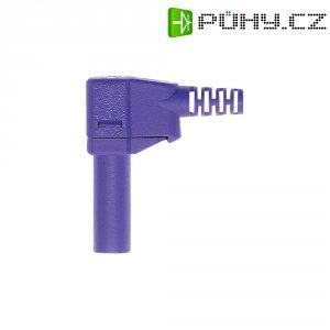 Lamelový konektor Ø 4 mm MultiContact 22.2667-26, zástrčka úhlová, fialová