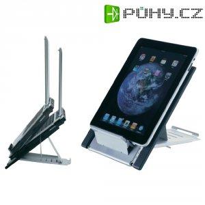 """Držák pro notebook/tablet, 25,4 - 56 cm (10\"""" - 22\"""") nosnost 5 kg, stříbrný"""
