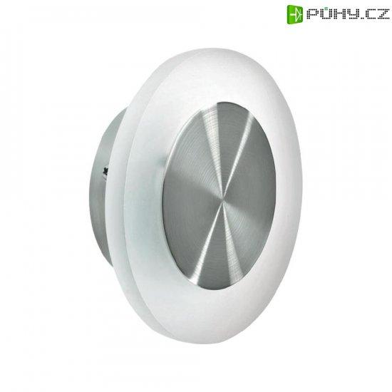 Nástěnné LED svítidlo, 1,5 W, Ø 12,6 cm, kulaté, nerez, bílá - Kliknutím na obrázek zavřete