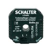 Bezdrátový spínač FreeControl, 808003029, 1kanálový, 3600 W, triak, 2 dráty