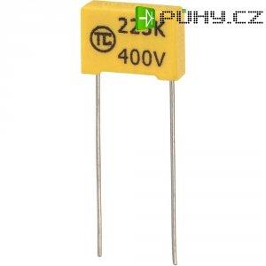 Foliový kondenzátor MKS, 0,022 µF, 400 V, 5 %, 13 x 4 x 9 mm